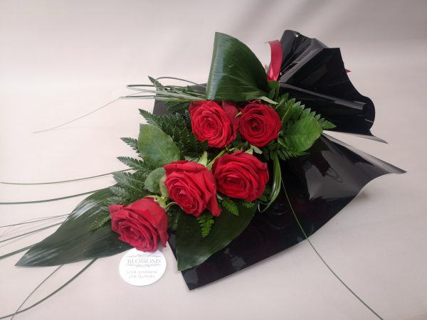 red, roses, funeral, flowers, sympathy, florist, Ballina