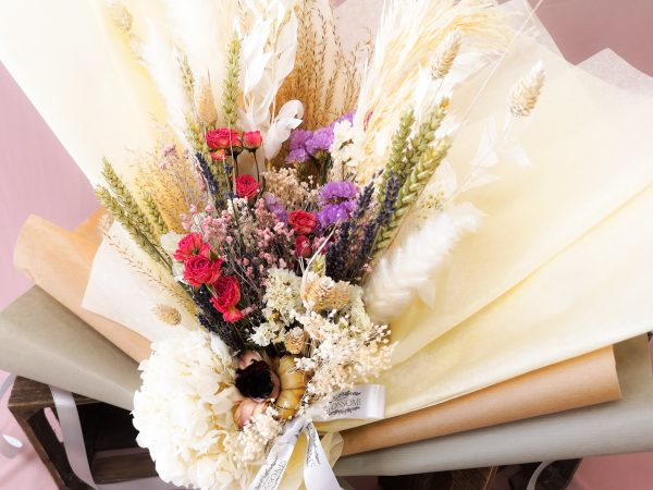 dried, flowers, bouquets, pampas, gift, long lasting